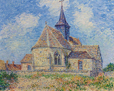 The Church At Porte-joie On The Eure Poster by Gustave Loiseau