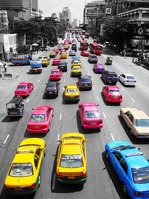 The Colours Of Bangkok Poster by Kelly Jones