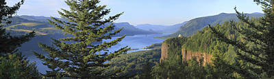 The Columbia River Gorge Vista House Panorama. Poster by Gino Rigucci
