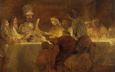 The Conspiracy Of The Batavians Under Claudius Civilis Poster by Rembrandt