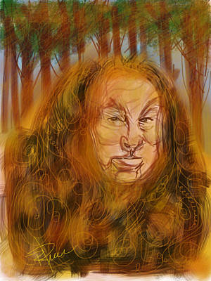 The Cowardly Lion Poster by Russell Pierce