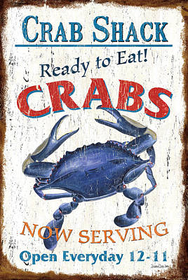 The Crab Shack Poster by Debbie DeWitt