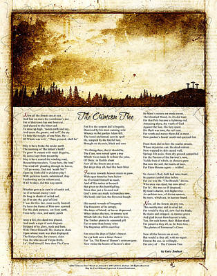 The Crimson Tree Poem Poster by Gary Bodnar