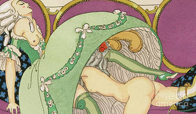 The Crinoline Poster by Gerda Marie Frederike Wegener