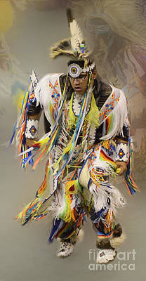 Pow Wow The Dance 4 Poster by Bob Christopher