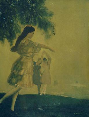 The Dancers Poster by Arthur Bowen Davies