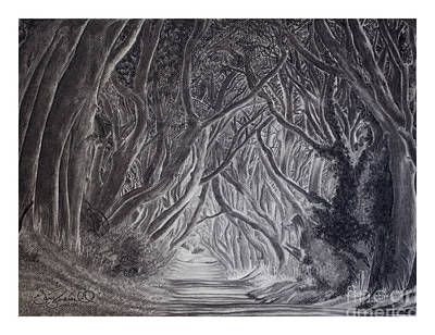 The Dark Hedges Poster by Gary Rudisill