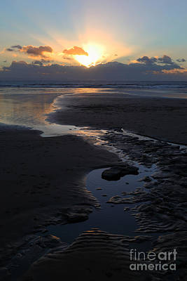 The Days Last Rays At Dunraven Bay Wales Poster by James Brunker