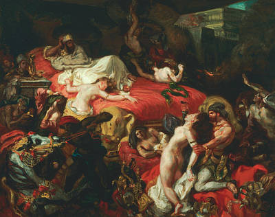 The Death Of Sardanapalus Poster by Eugene Delacroix