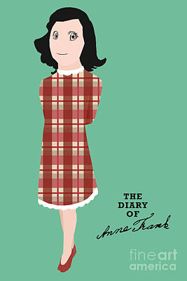 The Diary Of Anne Frank Book Cover Movie Poster Art 1 Poster by Nishanth Gopinathan