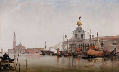 The Dogana Di Mare With San Giorgio Maggiore Beyond Poster by Edward William Cooke