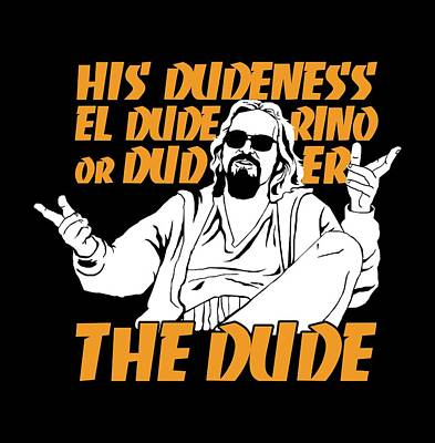 The Dude Poster by Mos Graphix
