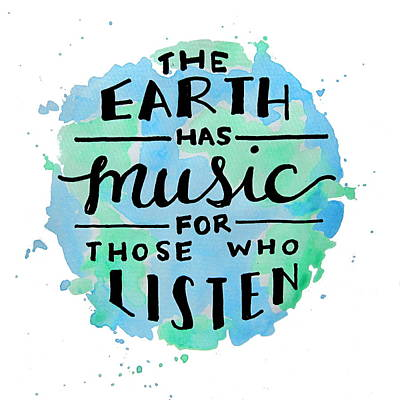 The Earth Has Music Square Poster by Michelle Eshleman