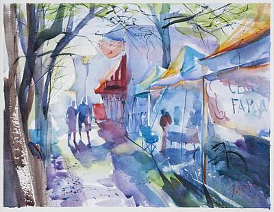The Farmer's Market Poster by Lyudmila Tomova