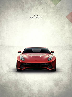 The Ferrari F12 Poster by Mark Rogan