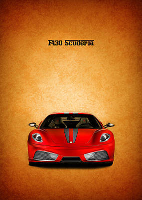 The Ferrari F430 Poster by Mark Rogan