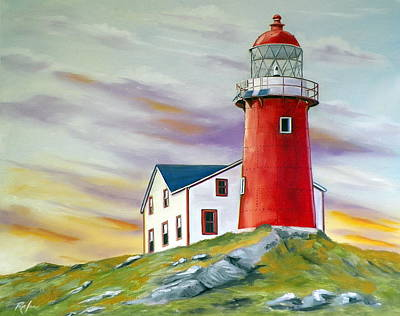 The Ferryland Light Poster by RB McGrath