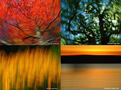 The Fine Art Of Camera Panning Poster by Juergen Roth