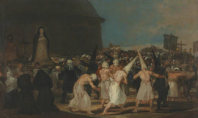 The Flagellants Poster by Francisco Goya