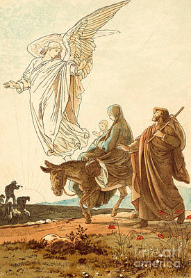 The Flight Into Egypt Poster by Victor Paul Mohn