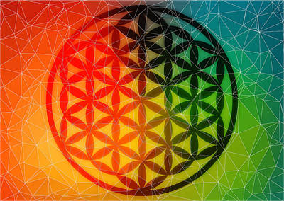 The Flower Of Life Dreams Poster by AJ Fortuna