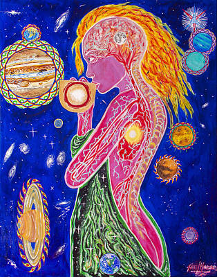 Rainbow Body Poster featuring the painting The Fool Goddess  by Paul Hanson
