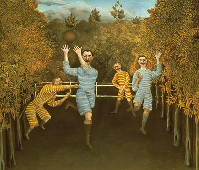 The Football Players Poster by Henri Rousseau