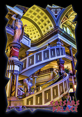 The Forum At Caesars Poster by Ricky Barnard