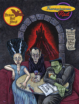 The Fried Of Blankenstein Poster by Holly Wood