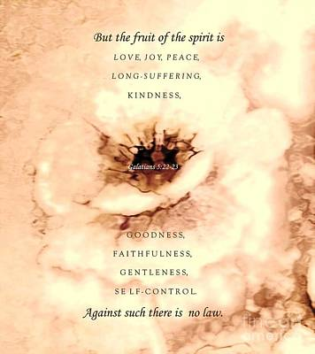 The Fruit Of The Spirit Poster by Hazel Holland