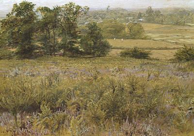The Furze Field Poster by Samuel Palmer