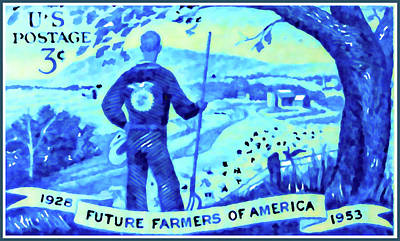 The Future Farmers Of America Stamp Poster by Lanjee Chee