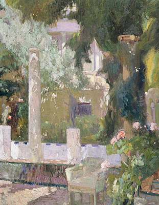 The Gardens At The Sorolla Family House Poster by Joaquin Sorolla y Bastida