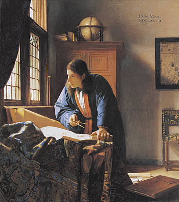 The Geographer, 17th Century Artwork Poster by Sheila Terry