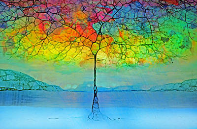 The Glow Tree Poster by Tara Turner