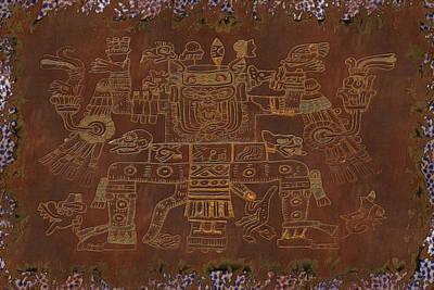 The Gods Aztec Tapestry Poster by Sharon and Renee Lozen
