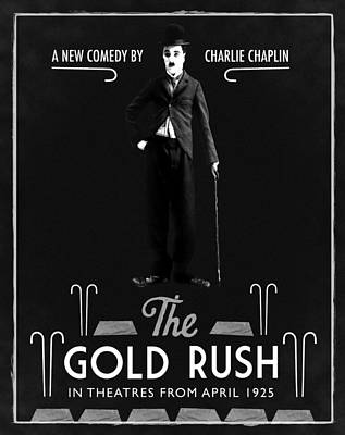 The Gold Rush Charlie Chaplin 1925 Black Poster by Digital Reproductions
