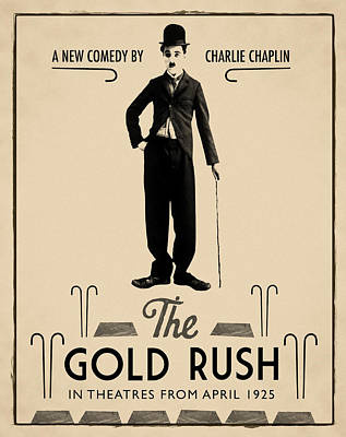 The Gold Rush Charlie Chaplin 1925 Poster by Digital Reproductions
