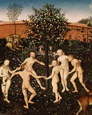 The Golden Age Poster by Lucas Cranach