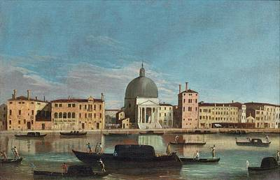 The Grand Canal With The Church Of San Simeone Piccolo Poster by Celestial Images