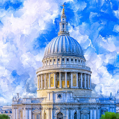 The Great Dome - St Paul's Cathedral Poster by Mark Tisdale