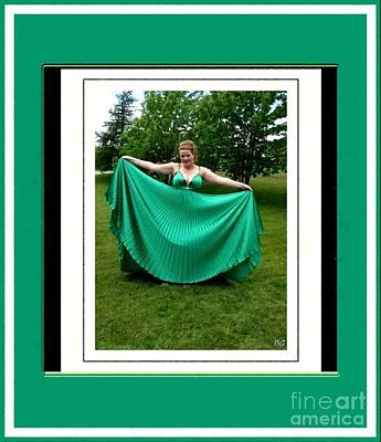 The Green Dress Poster by Barbara Griffin