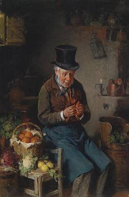The Greengrocer  Poster by Hermann Kern
