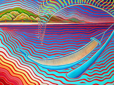 Hammock On The Spirited Island Of Fuga Poster by Karie Seven Eagles Garnier