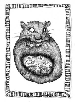 The Hamster And The Bird Restaurant  Poster by Zelde Grimm