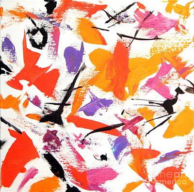 The Happy Dance  Poster by Expressionistartstudio Priscilla-Batzell