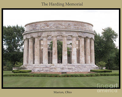 The Harding Memorial In The Summer Poster by Mark Stephens