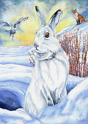 The Hare Fear Creativity And Rebirth Poster by Antony Galbraith