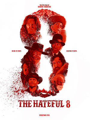 The Hateful 8 Alternative Poster Poster by Christopher Ables