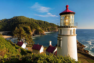 The Heceta Head Lighthouse Poster by Patrick Campbell